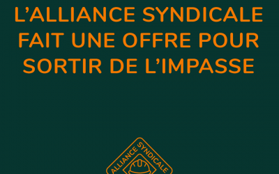 L'Alliance syndicale de la construction fait des offres formelles pour sortir de l'impasse des négociations